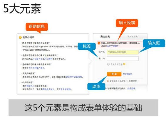 biao3 表单设计5大元素